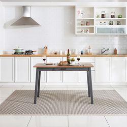 이스테지아 원목 오블리크 4인 식탁 (의자별도)