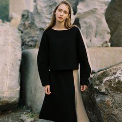 Italian Wool MERMAID SKIRT BLACK