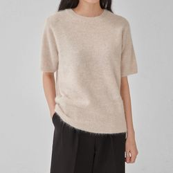 angora half sleeve knit