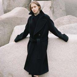 NEW DOUBLE WOOL LONG COAT BLACK (WOMEN)