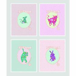 12지스토리 생일카드  클래식 4종 a세트