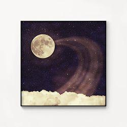 메탈 인테리어 달 구름 포스터 액자 Vintage moon sky 2
