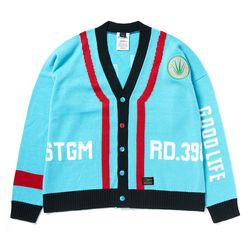 GOOD LIFE OVERSIZED WOOL CARDIGAN SKYBLUE