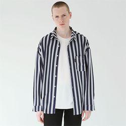 클래식무드 스트라이프 셔츠 네이비