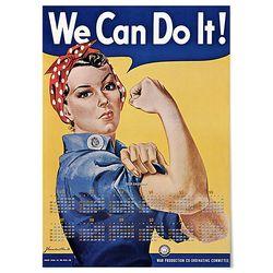대형 2019 달력 패브릭 빈티지 포스터 We can do it