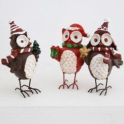 크리스마스 산타 부엉이 3P세트