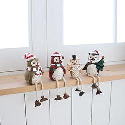 크리스마스 머플러 부엉이 4P세트