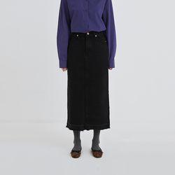 dolly black denim skirt
