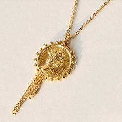 [925실버] Elizabeth Coin Chain Necklace(svn705)