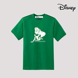 디즈니 앨리스 반팔 티셔츠 그린