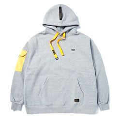 STGM POCKET OVERSIZED HEAVY SWEAT HOODIE GREY