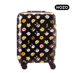 HOZO 시니컬래빗 패턴 캐리어 20인치 (기내용)