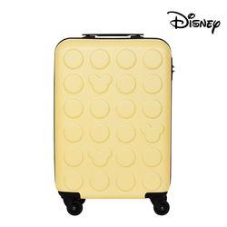 [무료배송] 디즈니 미키 블럭 하드 캐리어 옐로우 20인치 (기내용)