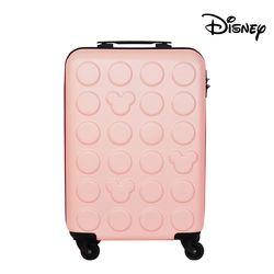 [무료배송] 디즈니 미키 블럭 하드 캐리어 핑크 20인치 (기내용)