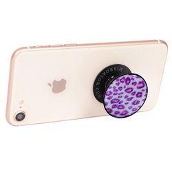 Leopard pink (Epoxy) 핸드폰 그립 스마트 톡 거치대 링 미러톡
