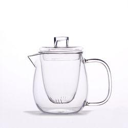 [로하티]허브나 거름망 유리 차포트(600ml)