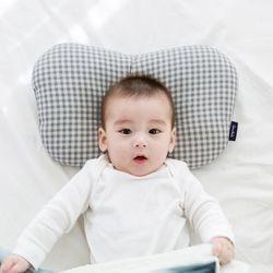 코니테일 아기 짱구베개 - 그레이체크(유아 신생아베개)