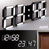 3D LED벽시계 매립벽시계 알람기능 리모컨포함