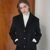 STANDARD ONE BUTTON COAT BLACK