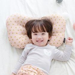 코니테일 아기 경추베개 - 핑크체리(어린이 유아베개)