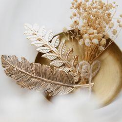제이로렌 H0277 더리프 엔틱골드 나뭇잎 헤어자동핀