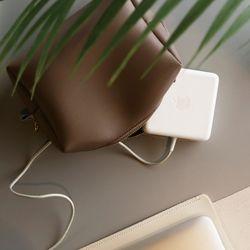 오피스 가죽 노트북 충전기 정리 파우치 6color