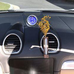 바미르 차량용 송풍구 원목케이스 디퓨저 (노랑안개꽃)