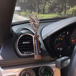 바미르 차량용 송풍구 원목케이스 디퓨저 (미스티블루)