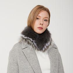 [러브참] 그레이 실버 폭스 머플러