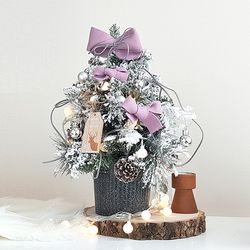 심플라벤더 크리스마스 미니트리 45cm+와이어앵두전구30구 추가