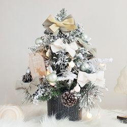 심플민트 크리스마스 미니트리 45cm+와이어앵두전구30구 추가