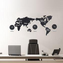 세계지도 벽시계 (무소음)