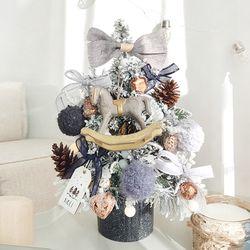 크리스마스 미니트리 45cm-티라미수 + 와이어앵두전구30구 추가