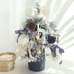 크리스마스 미니트리 45cm-티니화이트+와이어앵두전구30구 추가