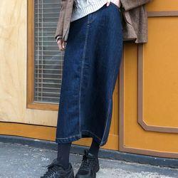 deep mood denim skirt (s m)