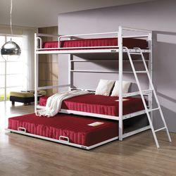 심플  라인 원목 침대 싱글3단