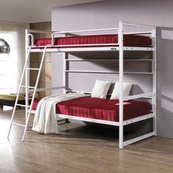 심플  라인 원목 침대 싱글2단