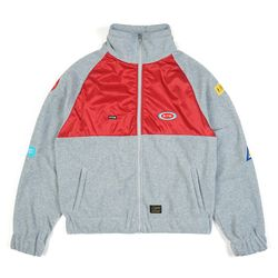 STGM OVERSIZED FLEECE TRACK JACKET GREY