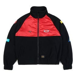 STGM OVERSIZED FLEECE TRACK JACKET BLACK