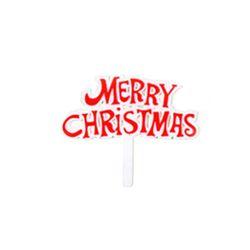 크리스마스케익장식 크리스마스팻말(대) 50개묶음