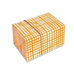 포장지 형광 오렌지체크 (1개)