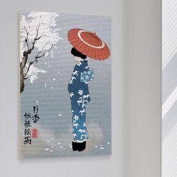 ii161-아크릴액자일본전통1-여인(대형)