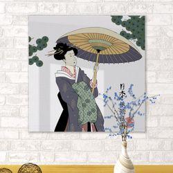 ii162-아크릴액자일본전통1-여인(중형)