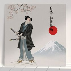 ii164-아크릴액자일본전통2-무사(중형)