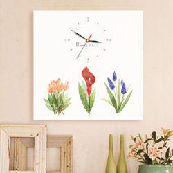 ct283-수채화꽃정원노프레임벽시계