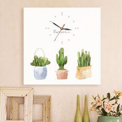 ct284-수채화식물정원노프레임벽시계