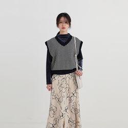 ample hound check vest (3colors)