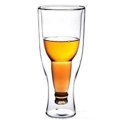 맥주병 모양 병350ml맥주잔beer cup