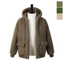양털 후드 자켓 FLE242