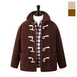 오버핏 양털 떡볶이 코트 자켓 FLE243